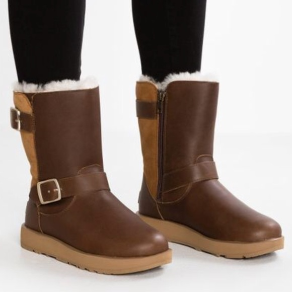 Sale Shop New Styles Cheap Price UGG Breida Waterproof Boot(Women's) -Stout Leather/Suede HxKlLl